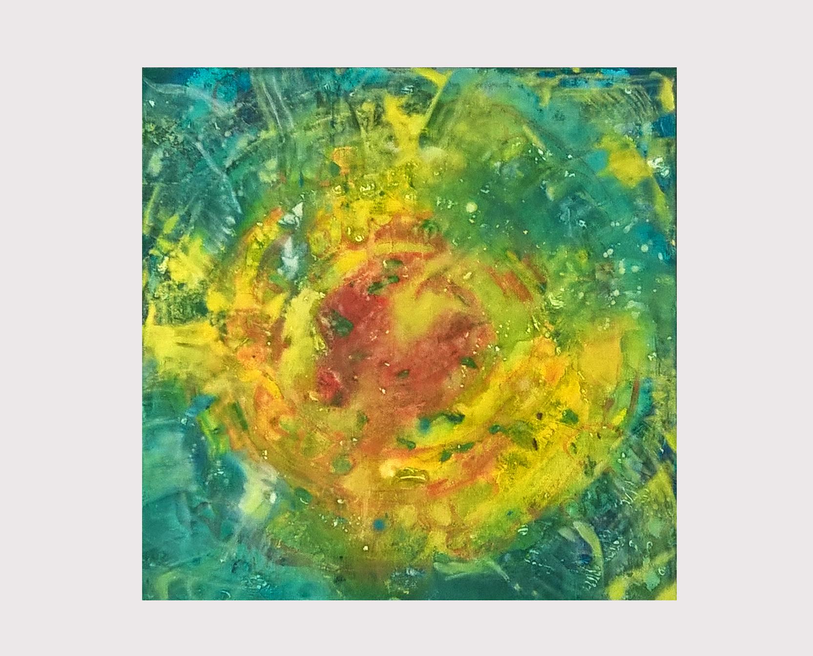 Elise Guietti_Inner Sun, Acrylic paint on canvas 50 x 50 cm
